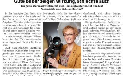 """Zeitungsartikel im """"Der Ennstaler"""" 10_2020"""