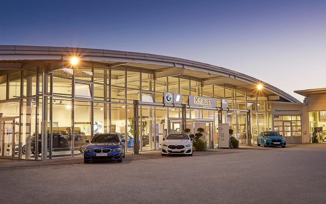 Gebäudeaufnahmen für Automobile Knauss in Liezen
